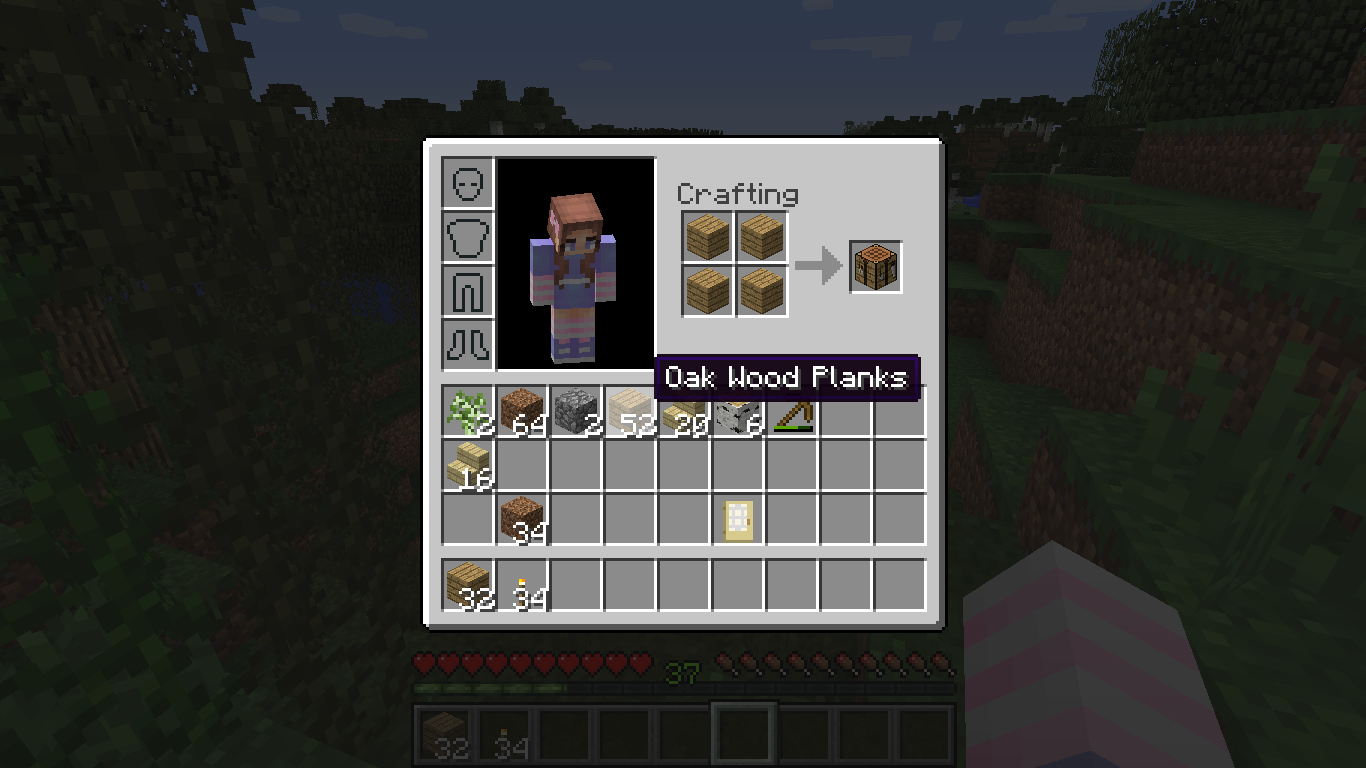 How to survive your first night on minecraft nerd family - How do you use a crafting table in minecraft ...