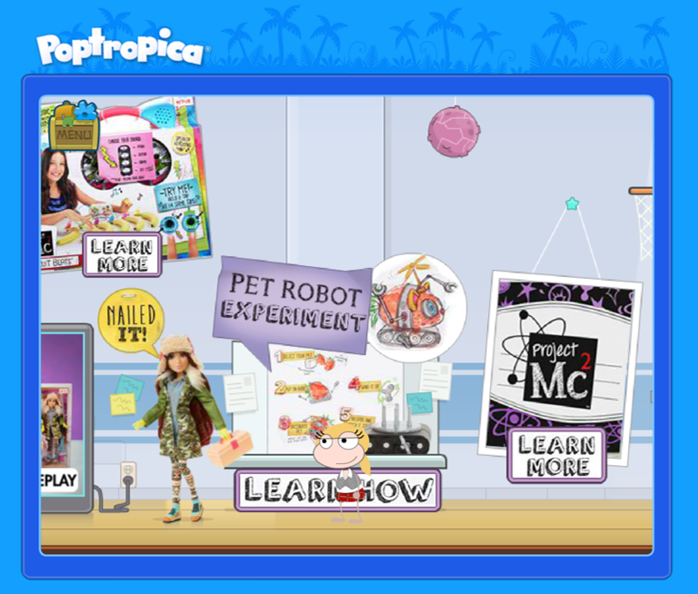 project mc2 science fair on poptropica nerd family